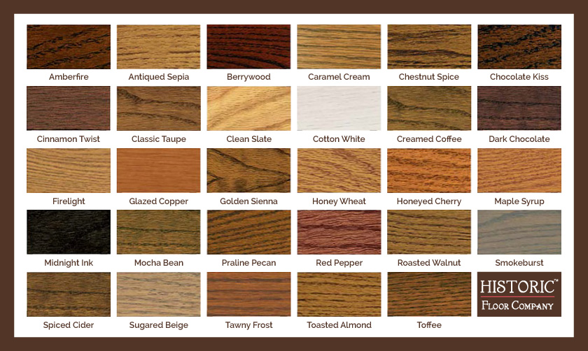 historic floor stain colors