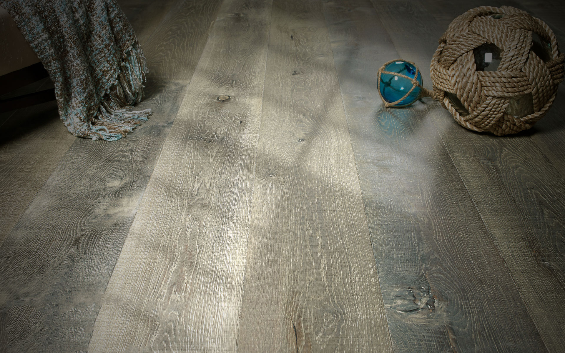 Wire-brushed White Oak